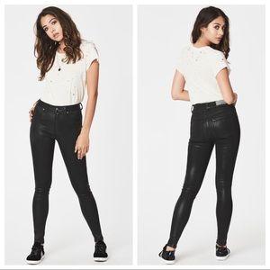 Carmar Coated jeans sz 27 skinny black